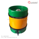Inner steel outer plastic column beer barrel 25L
