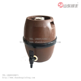 Inner steel outer plastic drum type wood grain beer barrel 5L